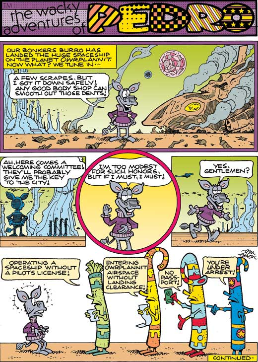 The Wacky Adventures of Pedro from the May 2007 issue of Boys Life