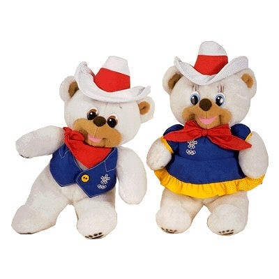 """""""Hidy"""" and """"Howdy"""" were the mascots at the 1988 Winter Games in Calgary, Canada. The bear siblings were the first dual mascots."""