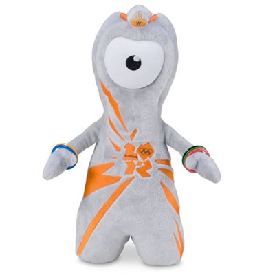"""""""Wenlock"""" was the mascot for the 2012 Summer Games in London, England. He represented drops of steel and was named after an English town which hosted the first unofficial modern Olympic Games in 1850."""