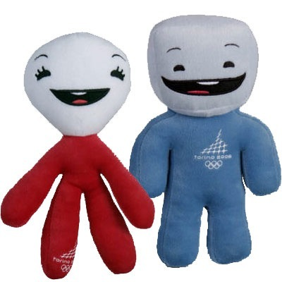 """""""Neve"""" the snowball and """"Gliz"""" the ice cube were the mascots for the 2006 Winter Games in Turin, Italy. They were chosen from more than 200 proposals."""
