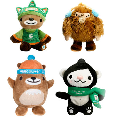 """""""Quatchi"""" the sasquatch and """"Miga"""" the sea bear were the mascots for the 2010 Winter Games in Vancouver, Canada. """"Sumi"""" the thunderbird was the  mascot for the Paralympic Games. """"Mukmuk"""" the marmot was their sidekick."""