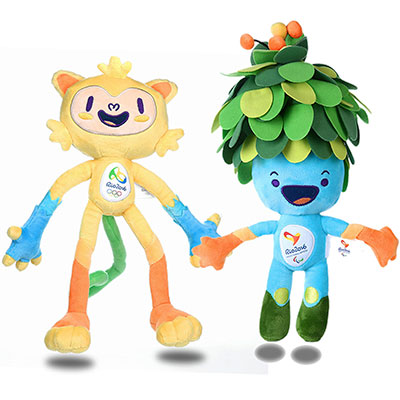 Vinicius, a mixture of all Brazilian animals, is the mascot for the 2016 Summer Games in Rio de Janeiro, Brazil. He is named for a bossa nova composer. Tom, a magical fusion of all the plants in the Brazilian forests, is the Paralympic Games mascot.