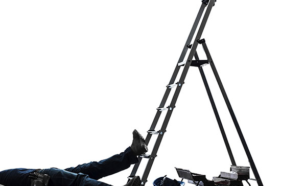 man-under-ladder