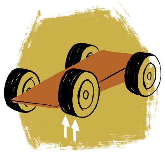 Step 6 for Making a Fast Pinewood Derby Car