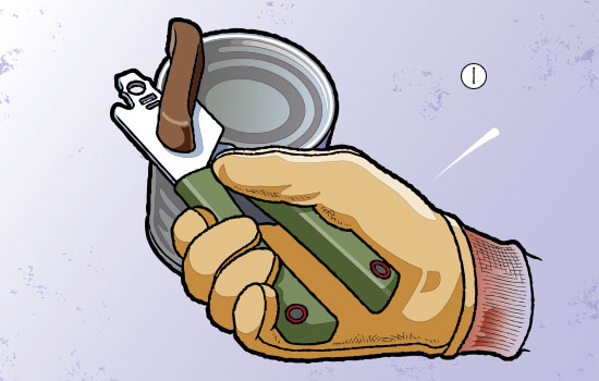 bottle-cap disc-golf step 1