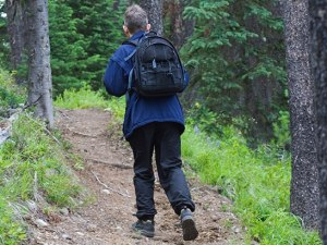 HIKER WITH A DAYPACK