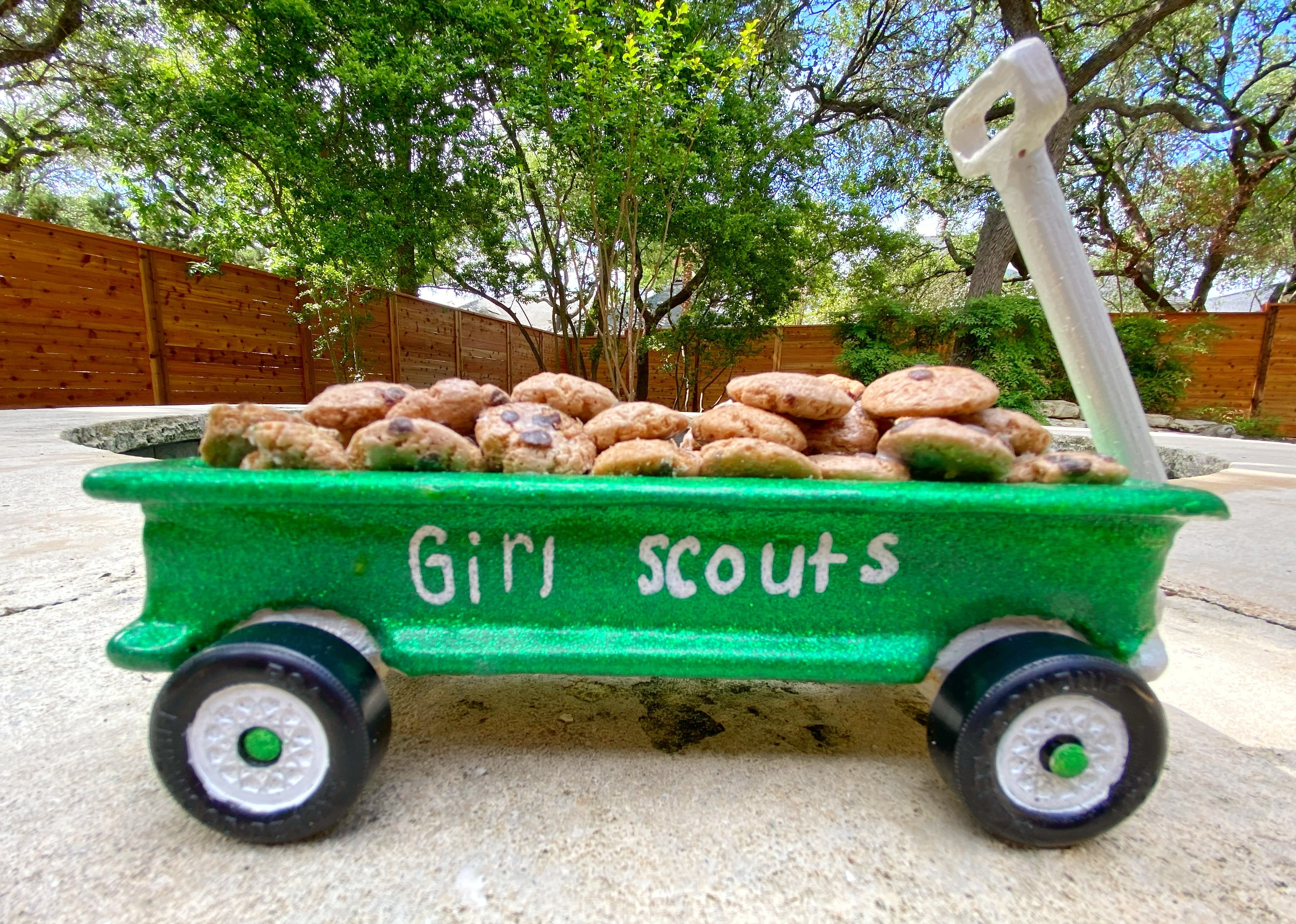Girl Scout cookie wagon