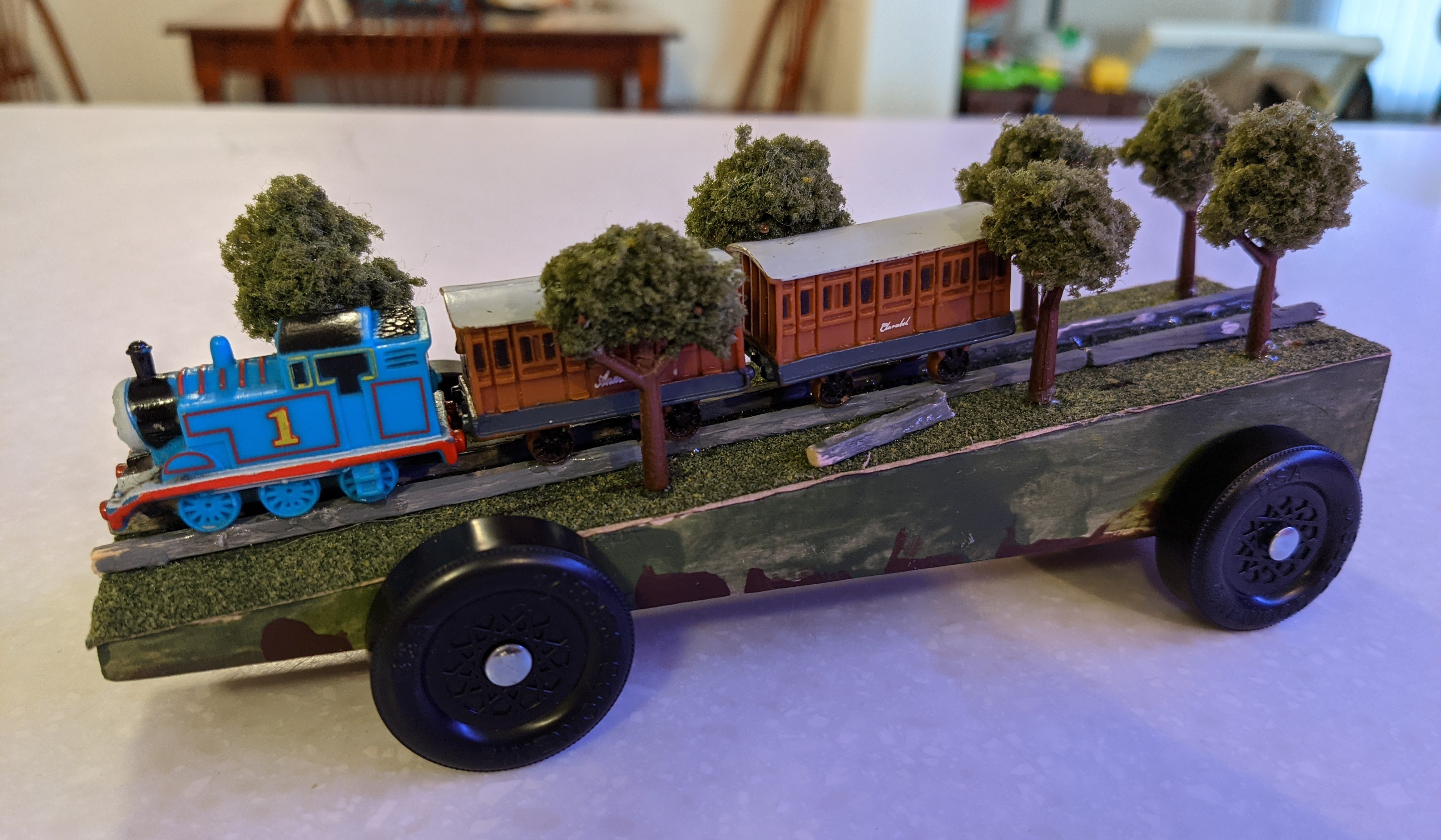 Thomas, Annie, & Clarabel In The Forest