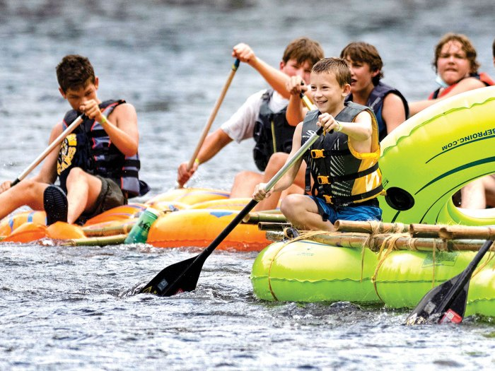 Scouts Race Down a Tennessee River on Homemade Rafts